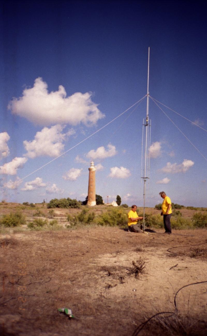 RU3BY, UA6NY - установка антенны GAP Titan DX